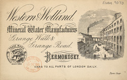 Advert for Western & Wolland, mineral water manufacturer